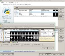 PHP Generator for MySQL Screenshot
